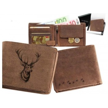 Kožená peňaženka jeleň...