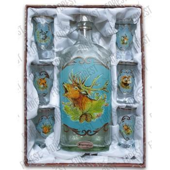 Jagerglass - fľaša malá +...