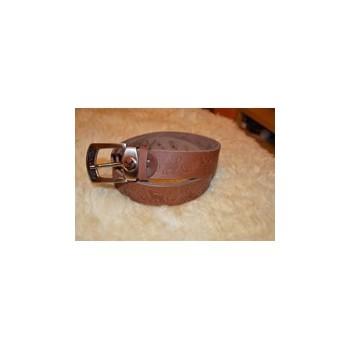 Kožený opasok - motív zvierat